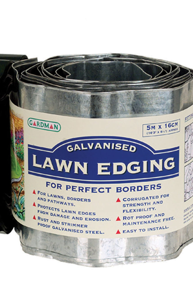 Galvanised Steel Border Lawn Edging