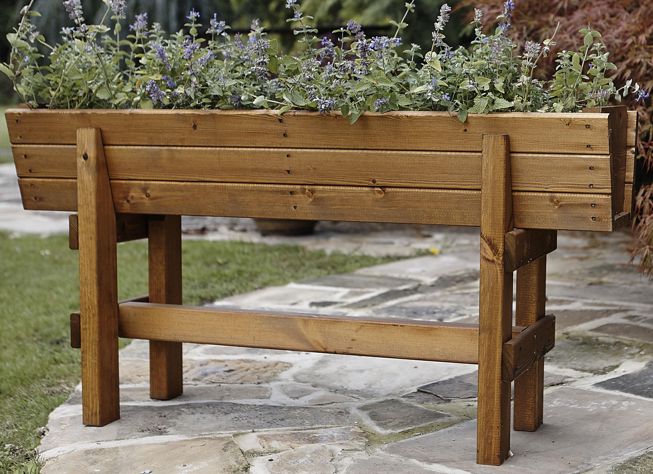 Image of: Penhurst Wood Planter On Legs Uk Garden Products