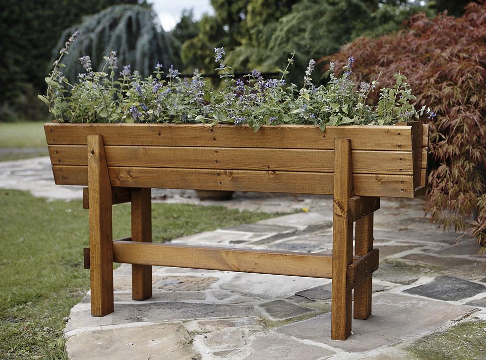 Penhurst Wood Planter On Legs Uk Garden Products