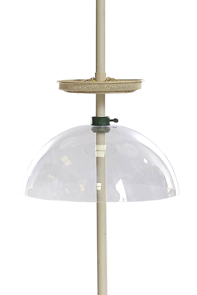 Large Clear Dome Squirrel Baffle for Wild Bird Feeding Station