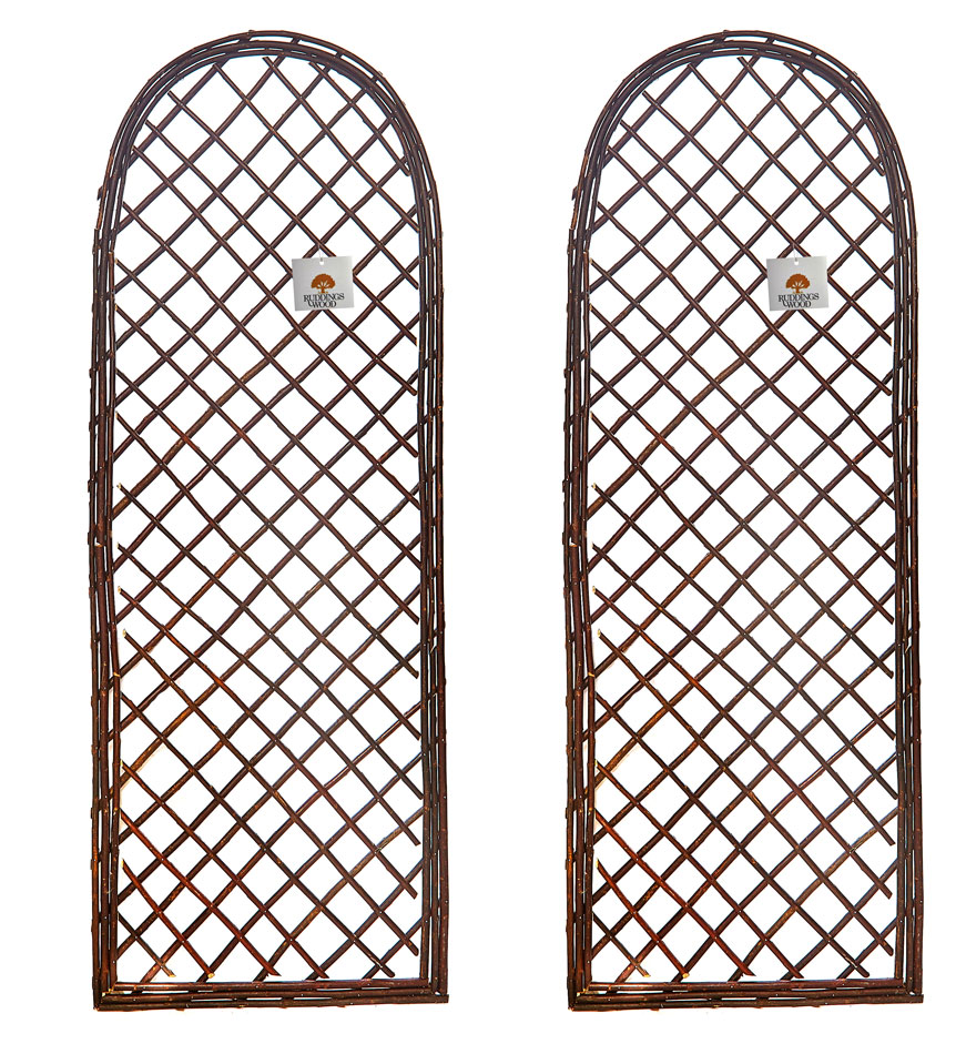 Willow Garden Trellis Round Top Wall Panel Extra Strong Set of 2
